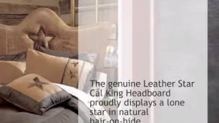 Leather Star Headboard - Cal King - lonestarwesterndecor.com