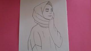 Kapalı kız çizimi /Kolay kapalı kız nasil çizilir/how to draw girl off easy