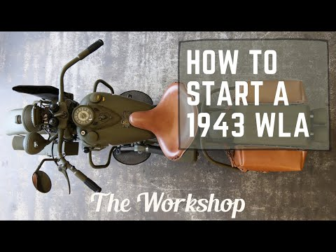 How To Start A 1943 Harley Davidson WLA / Ep043