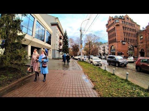Novosibirsk - Walking Sovetskaya Street - Russia / Новосибирск 4К