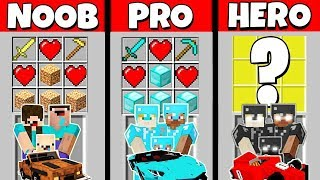 Minecraft Battle: NOOB vs PRO vs HEROBRINE: REAL LIFE CRAFTING CHALLENGE / Animation