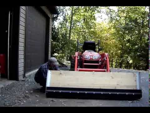Home Made Snow Pusher Plow Rubber Blade 1 Youtube