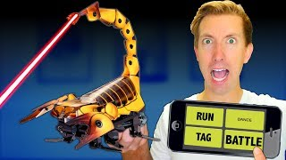 Build a ROBOT in Real Life! - Battle Robots vs Fruit Ninja (DIY Toys - Amazon Tech Unboxing Review)