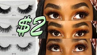$2 NATURAL & GLAM MINK LASH TRY ON HAUL & REVIEW | ALIEXPRESS  FALSE EYELASHES 2018