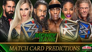 WWE Money In The Bank 2021 Full Match Card Predictions The Phenomenal Champions
