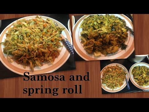 Chicken Spring Roll and Samosa Filling Recipe  Ramadan Special recipe  Time saving Hacks