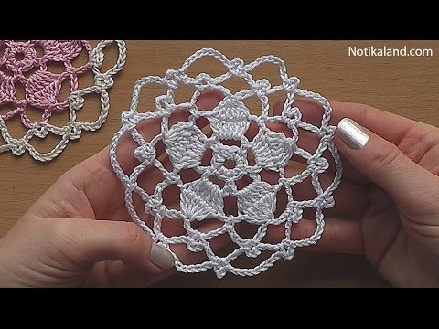 CROCHET Flower Motif Pattern Tutorial 40 YouTube Unique Crochet Flowers Patterns