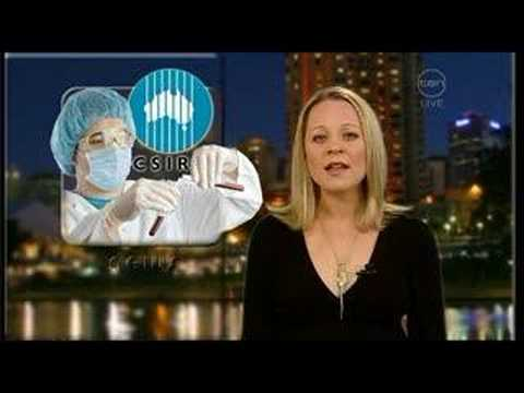 Carrie Bickmore at the News Desk on Rove (17th June 2007)