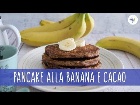 pancake dimagranti con farina davena e banana