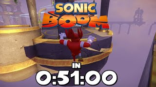 Sonic Boom: Rise of Lyric - Speedrun in 0:51:00