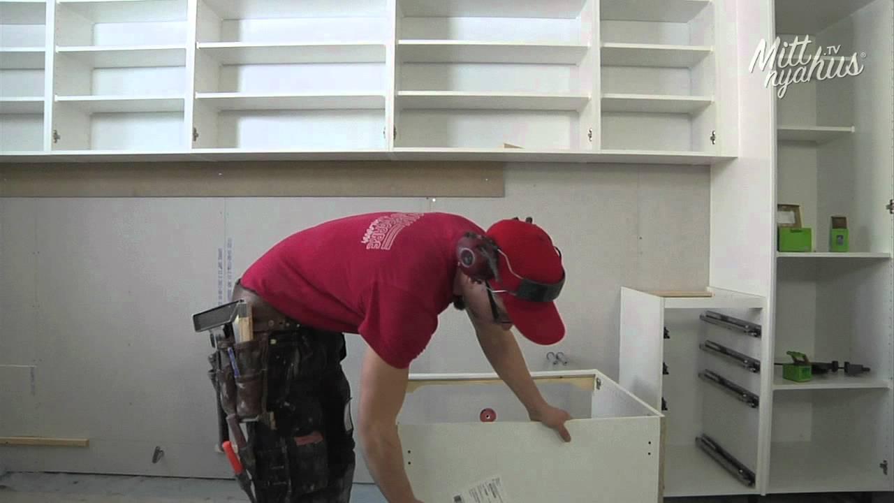Schreibtisch Ikea Galant Buche ~ Hur gör snickaren  Montering av bänkskåp i kök  YouTube