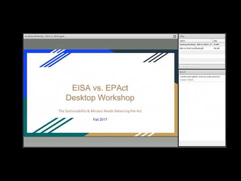 GSA Fleet Desktop Workshop: EISA vs. EPAct