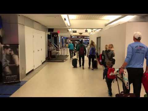 Walking around Cleveland Hopkins International Airport