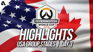USA vs Canada | Overwatch World Cup 2018 Los Angeles Qualifier Day 3