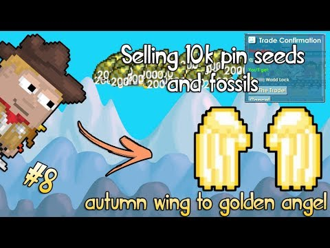 PROFIT FROM FOSSILS AND SELLING 11K PINBALL SEEDS | #8 Autumn Wing To Golden Angel | Growtopia