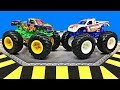 Hot Wheels Monster Trucks for Kids | Fun & Educational Organic Learning Video for Children