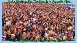 blake shelton was phenomenal on the beach in atlantic city
