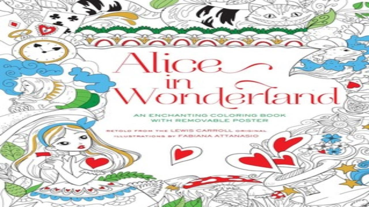 download book this alice in wonderland coloring book youtube