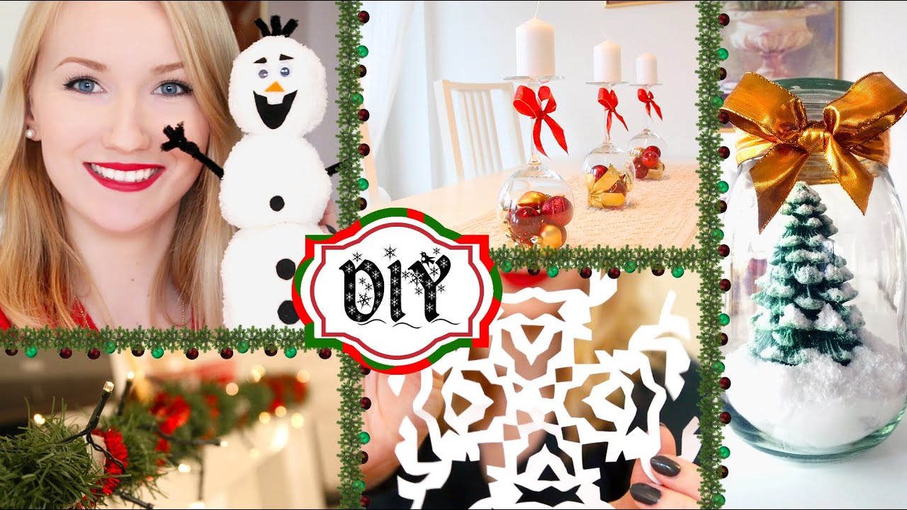 6 diy deko ideen f r weihnachten einfach g nstig youtube. Black Bedroom Furniture Sets. Home Design Ideas