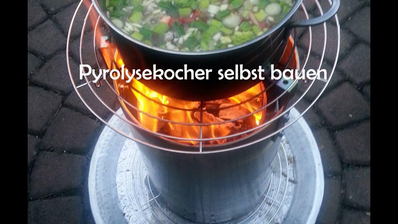 Pyrolysekocher selbst bauen, kochen und easy Rezept - Bauanleitung ...