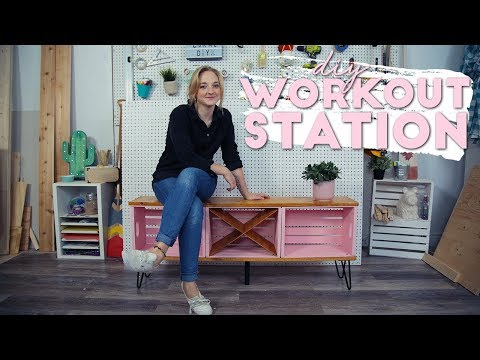 DIY Home Workout Bench and Organization