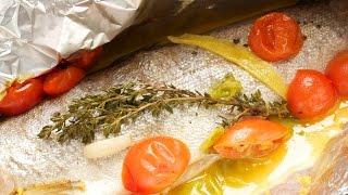 Fisch in der Alufolie zubereiten im Backofen