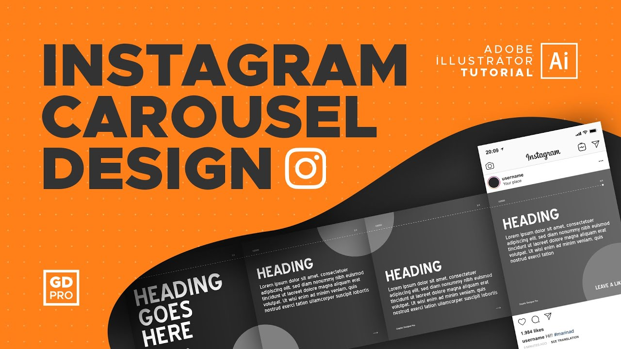 Premium templatemonster instagram themes · 10 fashion instagram template psd designs for social media · 10 clean style instagram pictures social. How To Create An Instagram Carousel Template Adobe Illustrator Tutorial Youtube