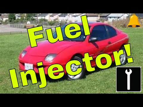 How to install a fuel injector on a 1995 Pontiac Sunfire or