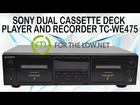 Mastering Recorders Musical Instruments Sony TC-WE 475 Dual Stereo ...