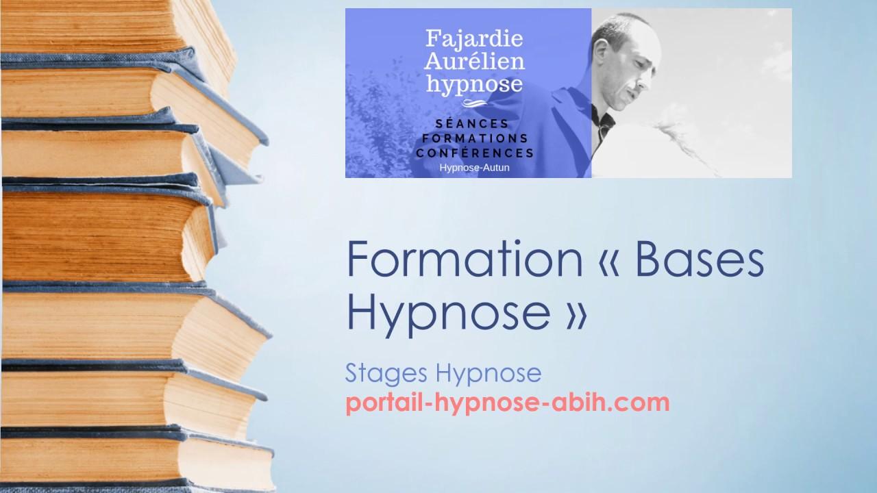 """Formation """"Bases"""" en hypnose"""