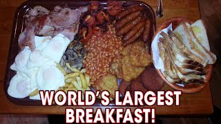 World's LARGEST Breakfast Challenge Defeated TWICE!! | Randy Santel