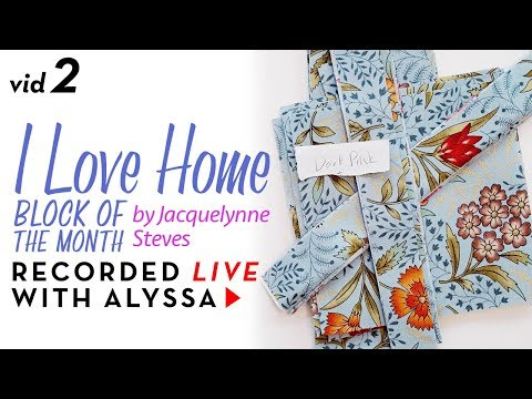 "Cutting 2nd fabric - Vid 2 ""I Love Home"" BOM - Designer Series #RelaxAndCraft"