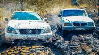 Деревенская ВОЛГА против Toyota и Audi по бездорожью