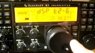 Elecraft K3 NOISE BLANKER & NR on RADAR Magnetic Storm