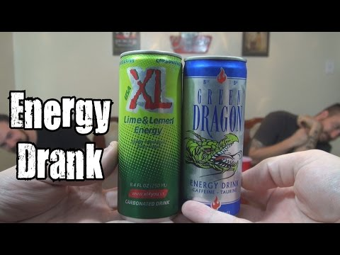 Energy Drank - Green Dragon Energy Drink vs. XL Lime & Lemon Energy