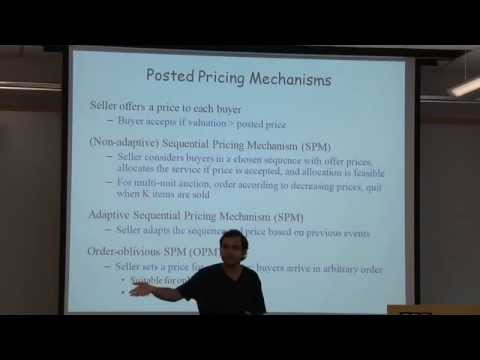 """Comparing Auctions and Posted Pricing Mechanisms in Multi-Unit Auctions"" (CRCS Lunch Seminar)"