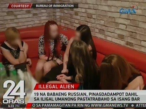24 Oras: 19 na babaeng Russian, dinakip dahil sa iligal umanong pagtatrabaho sa isang bar