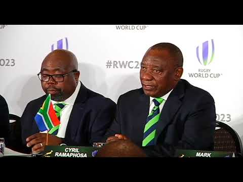 Deputy President Cyril Ramaphosa makes presentation to the World Rugby Council