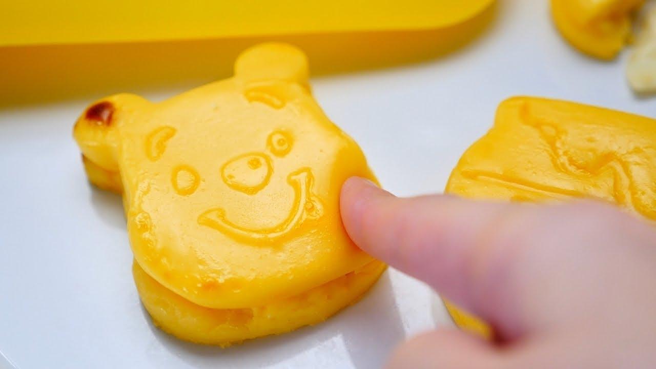 Winnie-the-Pooh Custard Cream Dessert ダイソーのシリコン型で作る プーさんのプニュプニュ焼き