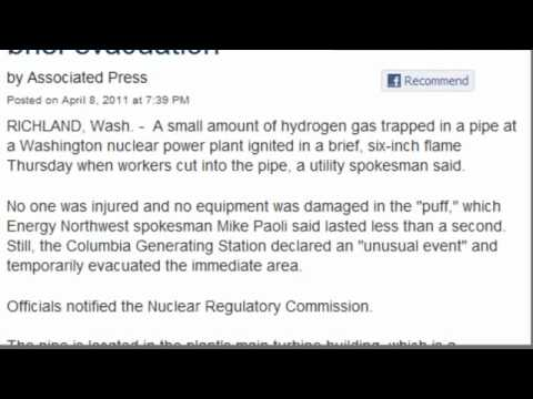 "Washington Nuclear Blast 4/8/11 ""nothing to worry about"""