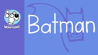 Draw Batman from 'Batman' - (Wordtoon Batman )