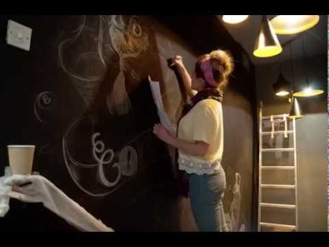 Illustrated Mural Time-lapse by Jessie Bayliss