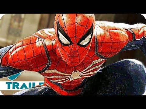 Spider-Man All Game Trailers & Gameplay Videos (2018) PS4 Game