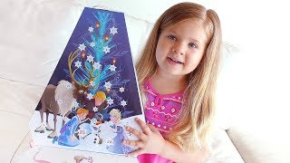 "Диана открывает Календарь Diana Opens Advent Calendar ""Olaf's Frozen Adventure"""