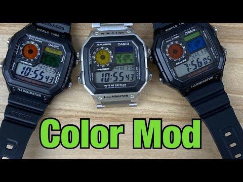 Casio World Time Color Mod
