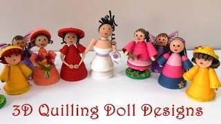 3D Quilling Doll Designs