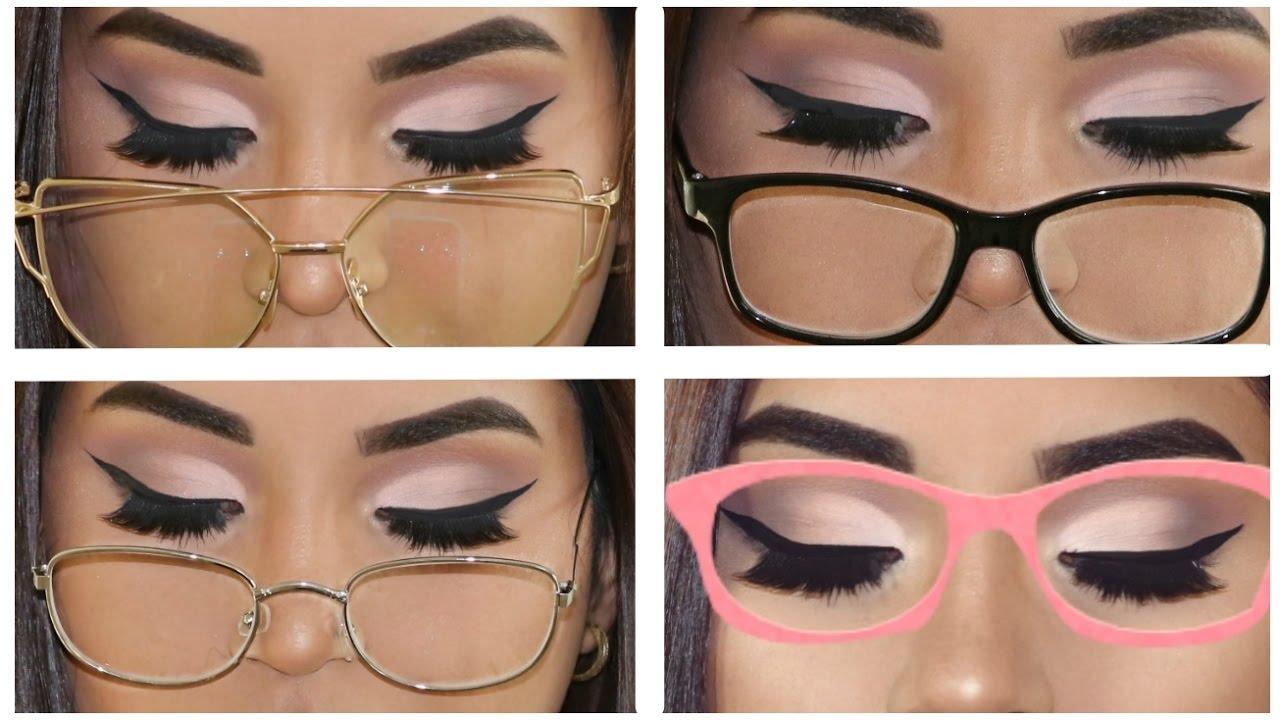TUTORIAL DELINEADO de ojos para gafas, lentes o anteojos PARA ...