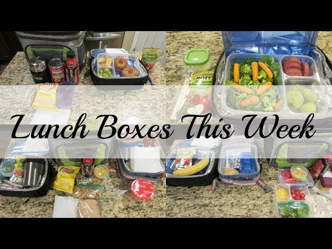 Lunch Boxes This Week - 9/11 - 9/14