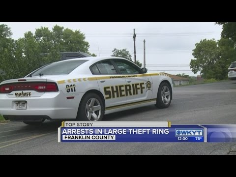Police bust large scale theft ring in Franklin, Anderson Counties