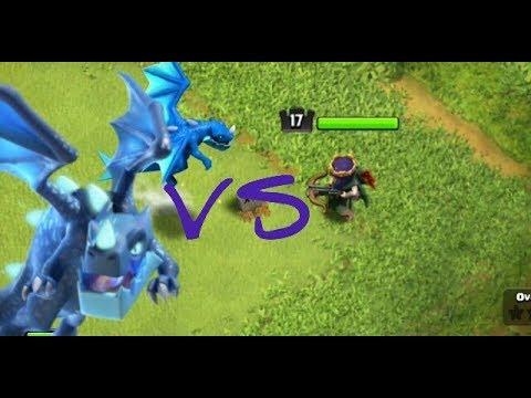Archer Queen Vs Electro Dragon Attack | 1 Vs 1 Battle in Clash of Clans